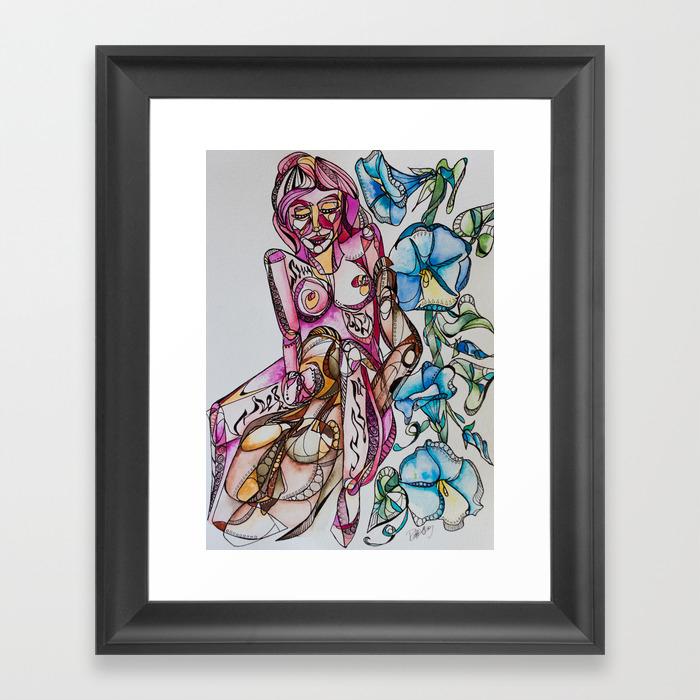 """""""""""goddess Between Your Legs"""""""" Framed Art Print by Rachelsartprojects"""" FRM8246106"""
