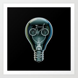 Dark Bicycle Bulb Art Print