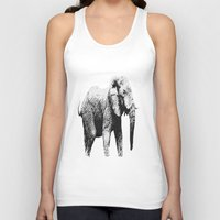 african Tank Tops featuring African Elephant by T.E.Perry