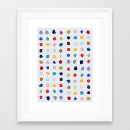 Polka Daubs Framed Art Print