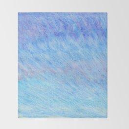Pastel blue sky Throw Blanket