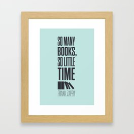 Lab No. 4 - Frank Zappa Quote Typography Print Poster Framed Art Print