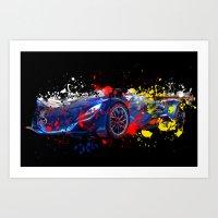 sport Art Prints featuring sport car by mark ashkenazi