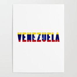 Venezuela Lettering Poster