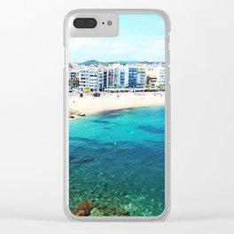 Beach at Blanes,Costa Brava. Clear iPhone Case