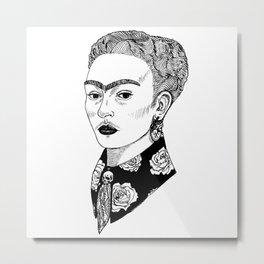 La Sombra de Frida Metal Print