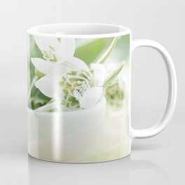 Spring made ​​of dreams with snowdrops and Porzellan Coffee Mug