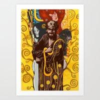 gustav klimt Art Prints featuring Klimt  by Nicolae Negura