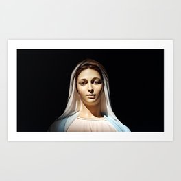 Our Lady of Tihaljina (Our Lady of Grace): In the Sun Light Art Print
