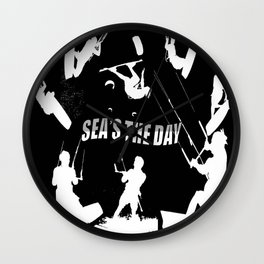 Seas The Day Kitesurfing Wall Clock