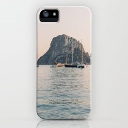 "Travel photography ""Ibiza Es Vedra"" | Modern wall art Ibiza Spain coast pastel tones sunset iPhone Case"