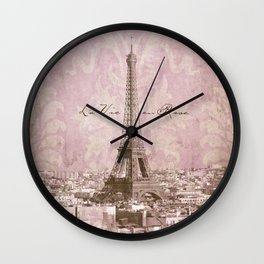 romantic Paris Wall Clock