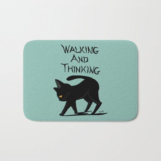 Walking and thinking Bath Mat