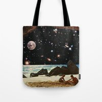 always sunny Tote Bags featuring it's always sunny in space by Blaž Rojs