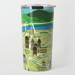 Prague map illustrated Travel Mug