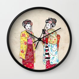 Geishas Wall Clock