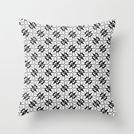 Floral Daggers Throw Pillow
