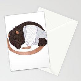 Sleepy Rat Stationery Cards