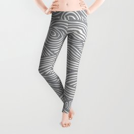 Waves in Charcoal Leggings