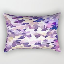 Foliage Abstract Camouflage In Pale Purple and Violet Pastels Rectangular Pillow