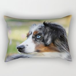 Australian Shepherd Blue Merle Dog Rectangular Pillow