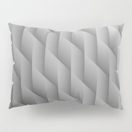Gradient Gray Diamonds Geometric Shapes Pillow Sham