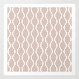 Classic Retro Ogee Pattern 732 Beige Art Print