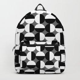 Geometric Circles Grey/Gray Backpack