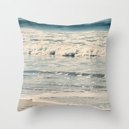 Gentle Waves Throw Pillow
