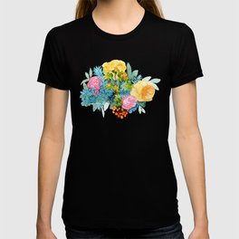 Colorful Watercolor Bouquet T-shirt