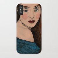 iris iPhone & iPod Cases featuring Iris by Sofia Azevedo