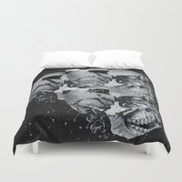 skulls Duvet Covers featuring Skulls by Mrs Araneae