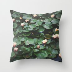 Echo Park Waterlillies Throw Pillow