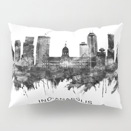 Indianapolis Indiana Skyline BW Pillow Sham