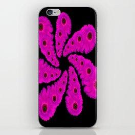 Pink Gerbera Flower Power iPhone Skin