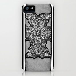 Tales of a Desert Martyr (Black & White Vertical) iPhone Case