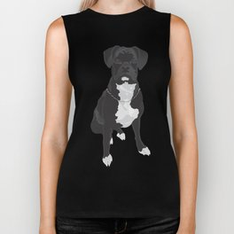 The Black & White Boxer Biker Tank