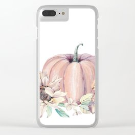 Autumn Pumpkin Clear iPhone Case
