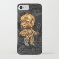 c3po iPhone & iPod Cases featuring C3PO by oRen