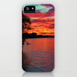 Sunset on Lake St. Clair in Belle River, Ontario, Canada iPhone Case
