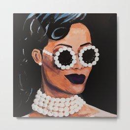 Rihanna, the Fashionista Metal Print
