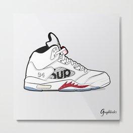 "Air Jordan V ""Supreme"" white Metal Print"