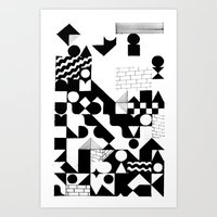 grid Art Prints featuring GRID by Matt Scobey