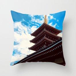 Asakusa Past and Present Throw Pillow