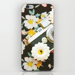 Floral Vintage Camera (Color) iPhone Skin