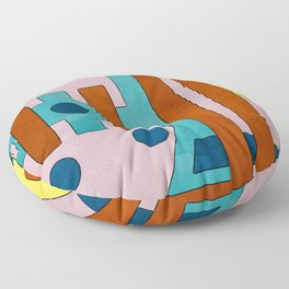 Raygun Capacitor - Abstract Composition Floor Pillow