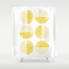 Labyrinth - Honey Shower Curtain