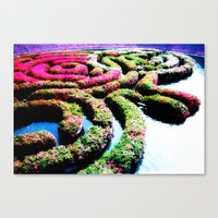 labyrinth Canvas Prints featuring Labyrinth by Penny Giforos