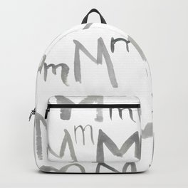 Watercolor M's - Grey Gray Backpack