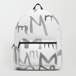 Watercolor M's - Grey Gray Backpack